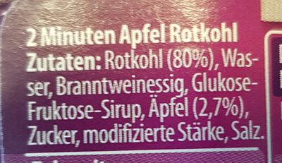 Apfel-Rotkohl - Ingrédients - de