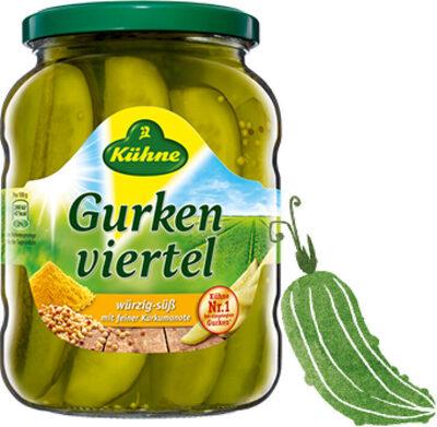 Gurken viertel würzig-süß mit feiner Kurkumanote - Product - de