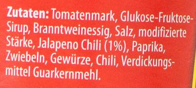 Chilisauce Hot Chili Sauce - Ingrédients