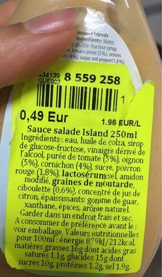 Kuhne Salatfix Thousand Islands 250ML - Ingrédients - fr