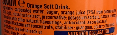 Fanta, soda, orange - Ingredients