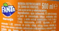 Fanta orange - Ingredientes - es