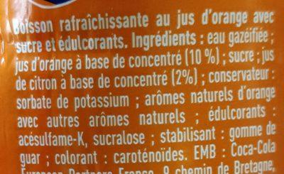 Fanta orange - Ingredienti - fr