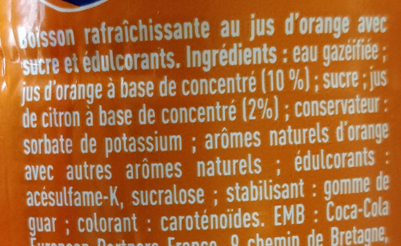 Fanta orange - Ingredients - fr
