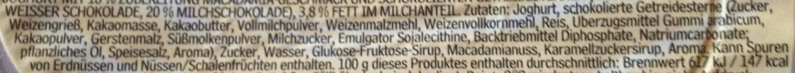 Joghurt mit der Ecke Knusper Schoko Stars - Inhaltsstoffe