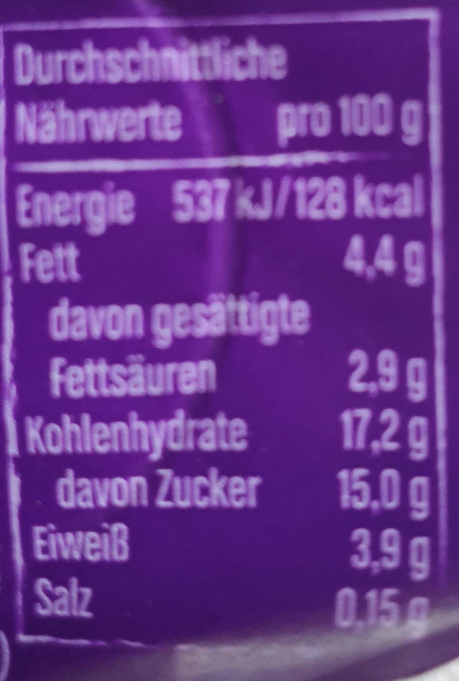 Joghurt mit der Ecke Knusper Schoko Stars - Nährwertangaben