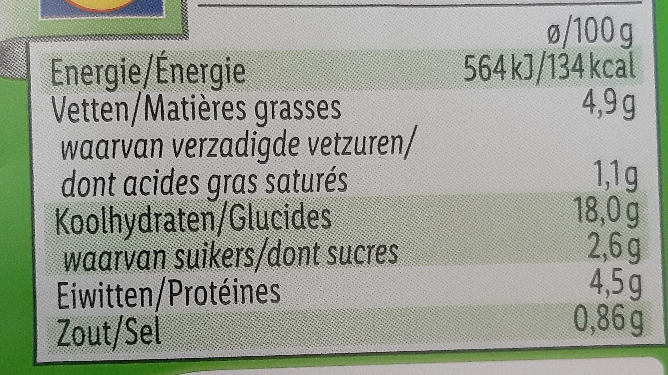 Tortelloni epinards ricotta - Voedingswaarden - nl