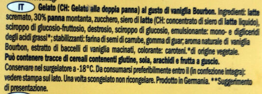 Bourbon vanilla glace Lidl - Ingredienti - it
