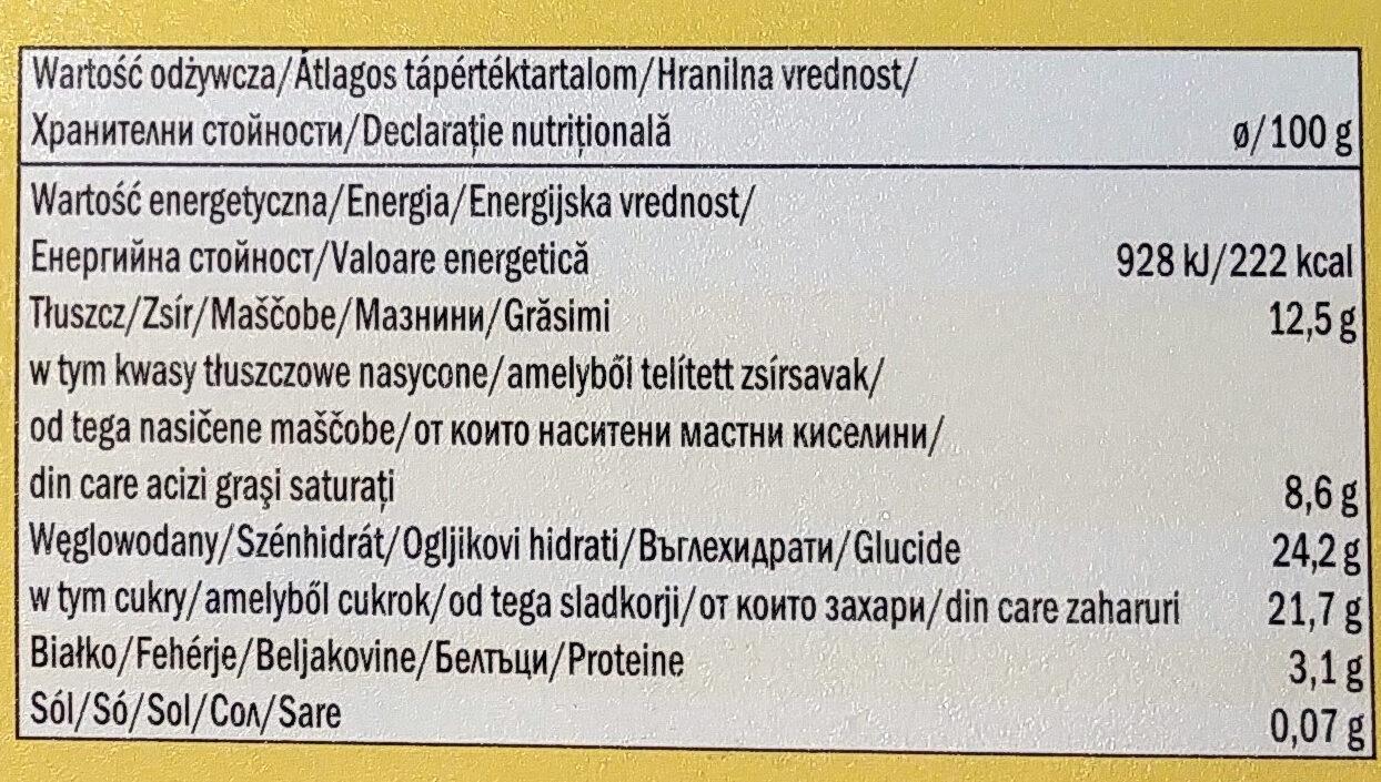 Bourbon vanilla glace Lidl - Informazioni nutrizionali - it