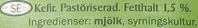 Milbona Kefir - Ingrédients