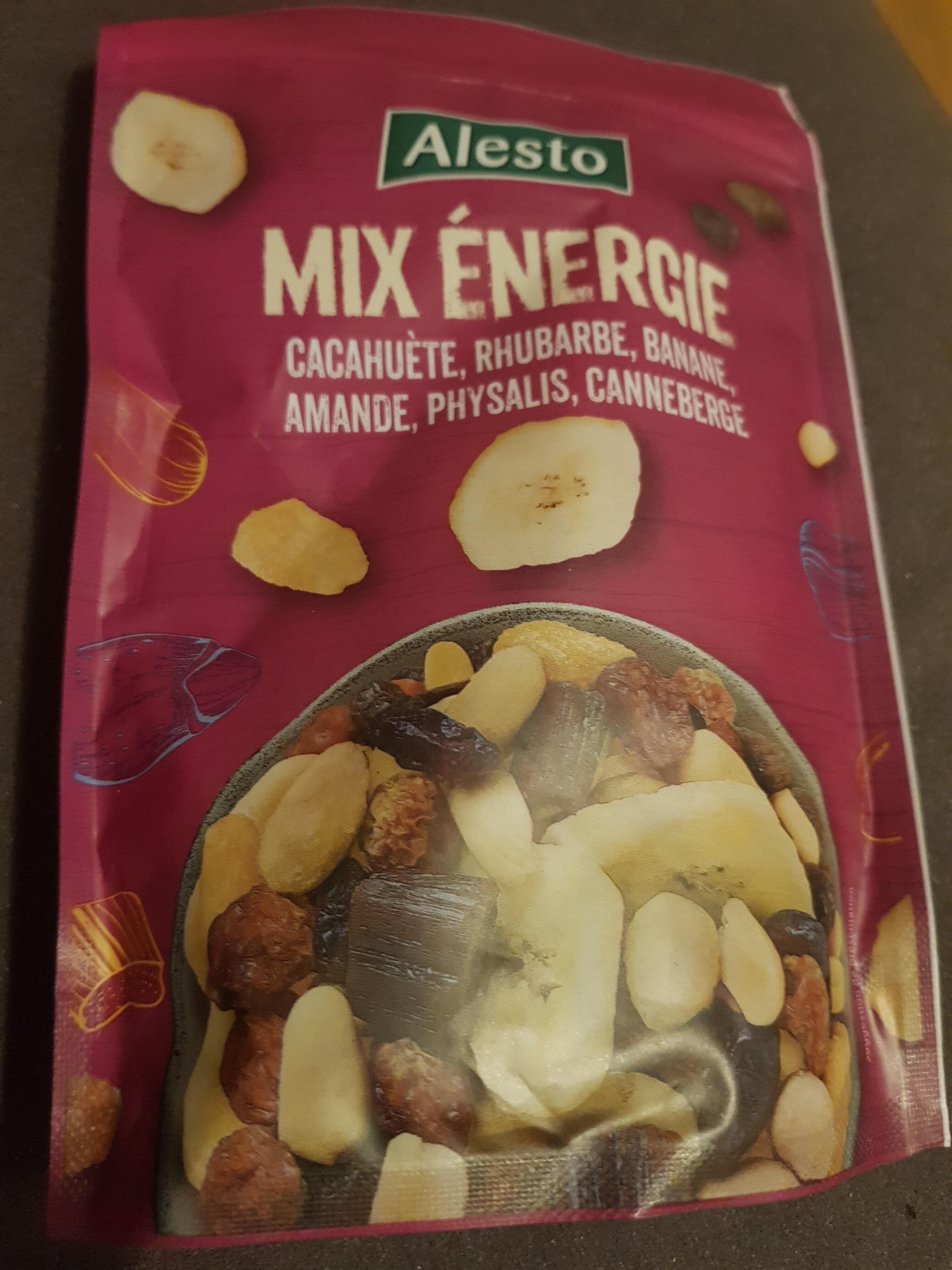 Mix énergie : cacahuète, rhubarbe, banane, amande, physalis, canneberge - Prodotto - fr