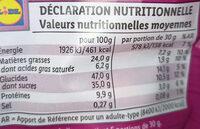 Mix énergie : cacahuète, rhubarbe, banane, amande, physalis, canneberge - Valori nutrizionali - fr