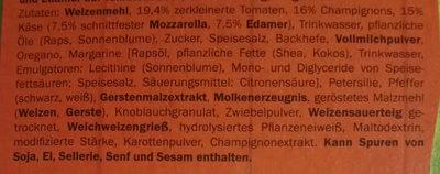 Pizza funghi - Ingredients - de