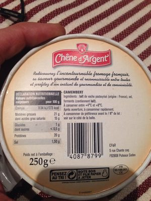 Chêne d'Argent Camembert - Produit - fr