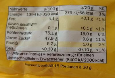 Juicys - Informations nutritionnelles - de