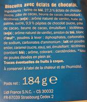 Grandino aux Gros eclats de chocolat - Ingredienti - fr