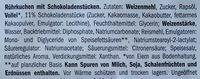 Muffins choco drop XXL - Inhaltsstoffe - de