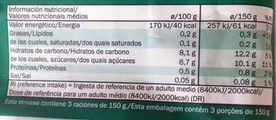 Smoothie mix Fruta & Verdura - Informació nutricional