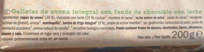Galletas de avena - Ingredientes