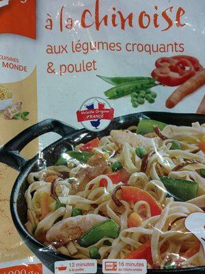 Nouilles à la chinoise, légumes croquants et poulet - Product