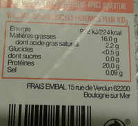 Pave de saumon asc - Nutrition facts