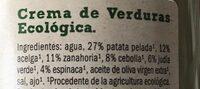 Soupe de legume - Ingredients - es