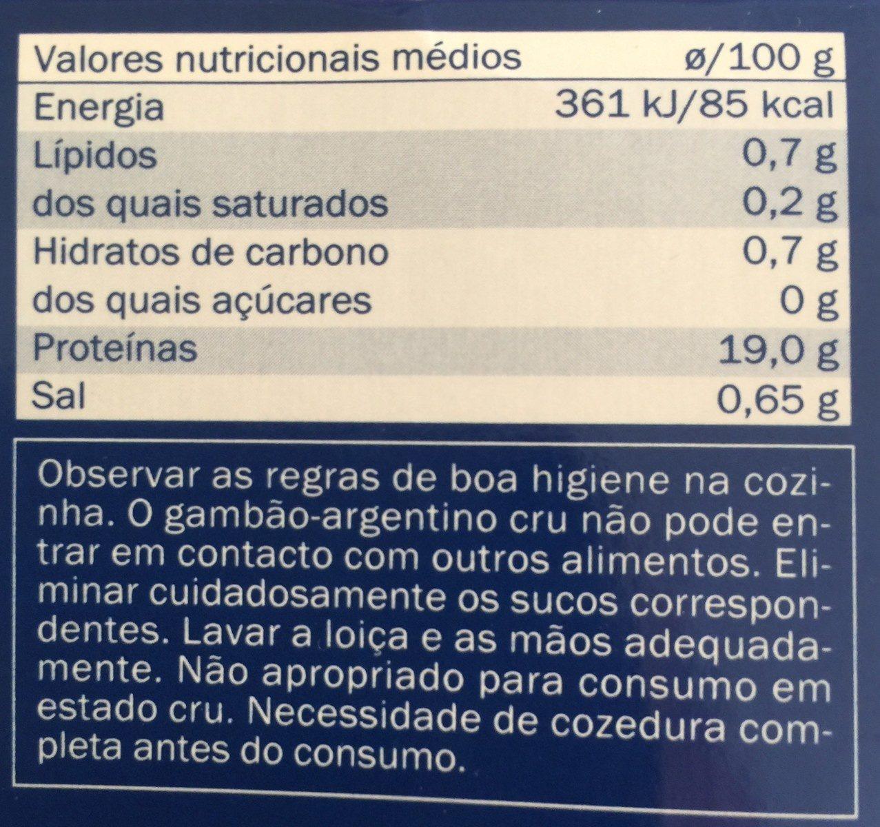 Langostino - Ingredientes - fr