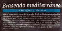Braseado Mediterráneo con berenjena y calabacín - Ingredientes