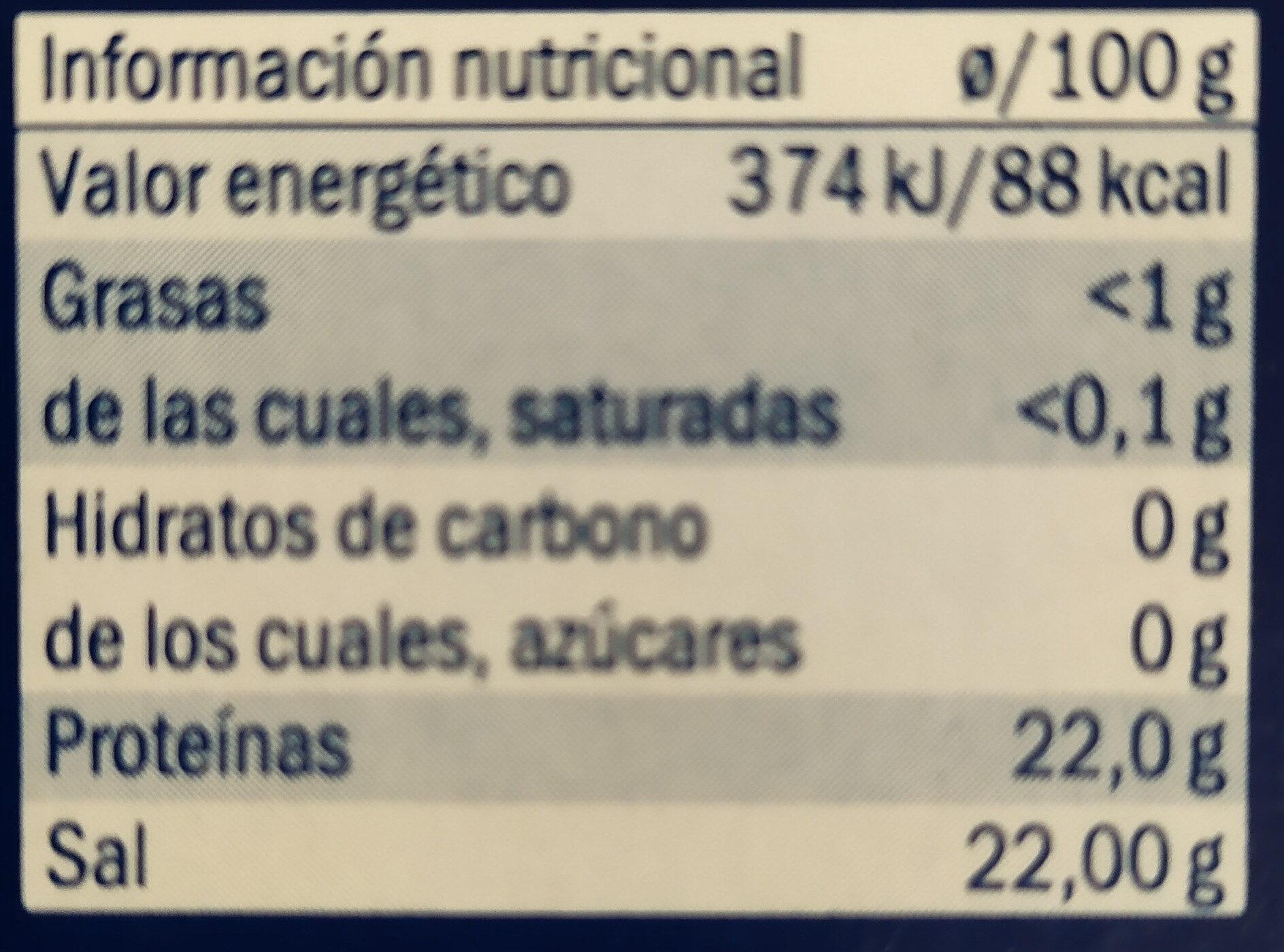 Desmigado de bacalao - Información nutricional - es