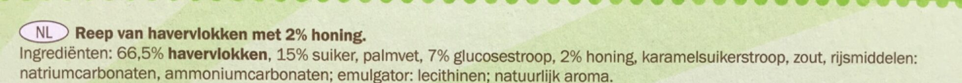 Green Canyon Oats & Honey - Ingrediënten