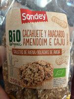 Galletas de avena, cacahuete y anacardo - Produto - es