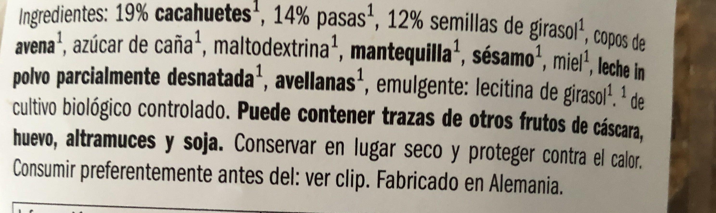 BIO cacahuete y anacardo - Ingredientes - es