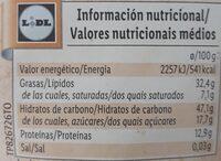 BIO cacahuete y anacardo - Información nutricional - es