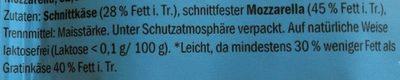 Gratinkase Der Leichte - Inhaltsstoffe - de