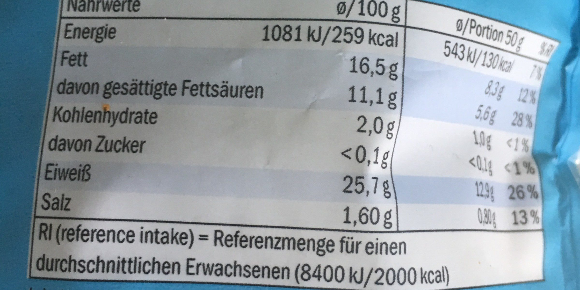 Gratinkase Der Leichte - Informations nutritionnelles - fr