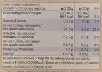 Chocolate con leche - Informació nutricional - es