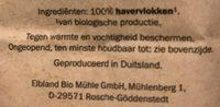 Bio Haferflocken - Ingrédients - fr