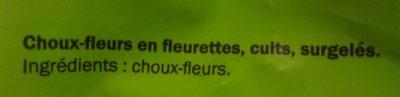 Choux-fleurs - Ingrédients