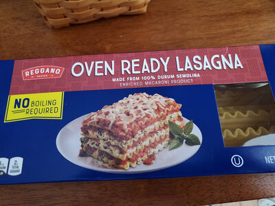 Reggano Oven Ready Lasagna - Produit