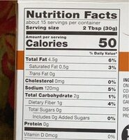 Homestyle guacamole - Nutrition facts - en