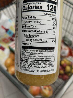 Apple Thyme Vinaigrette - Ingrédients - en