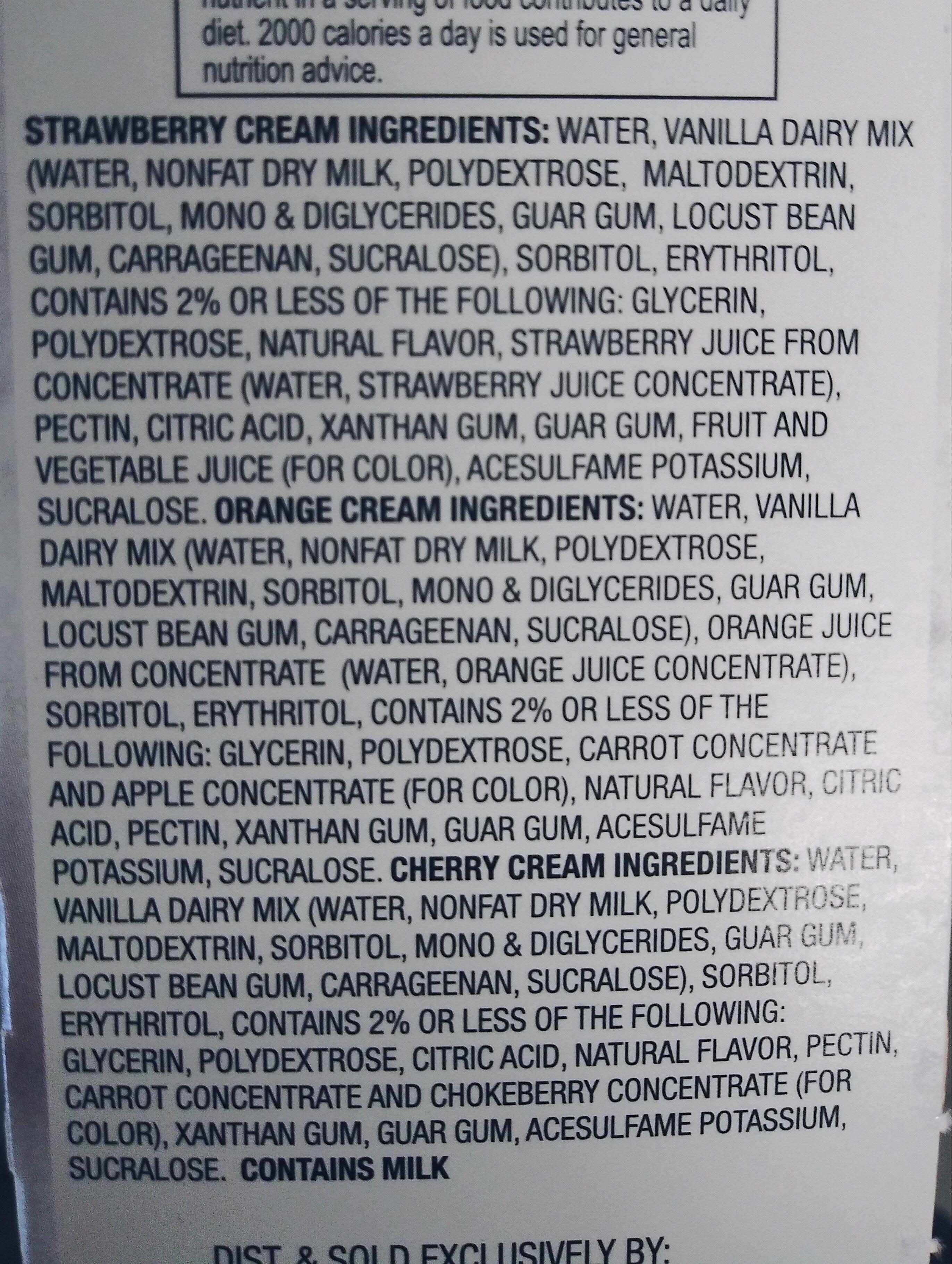 fit and active vanilla cream bars - Ingredients - en