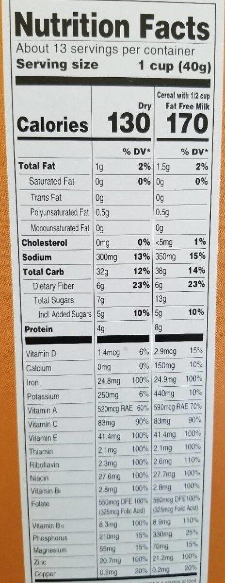 Bran Flakes - Nutrition facts - en