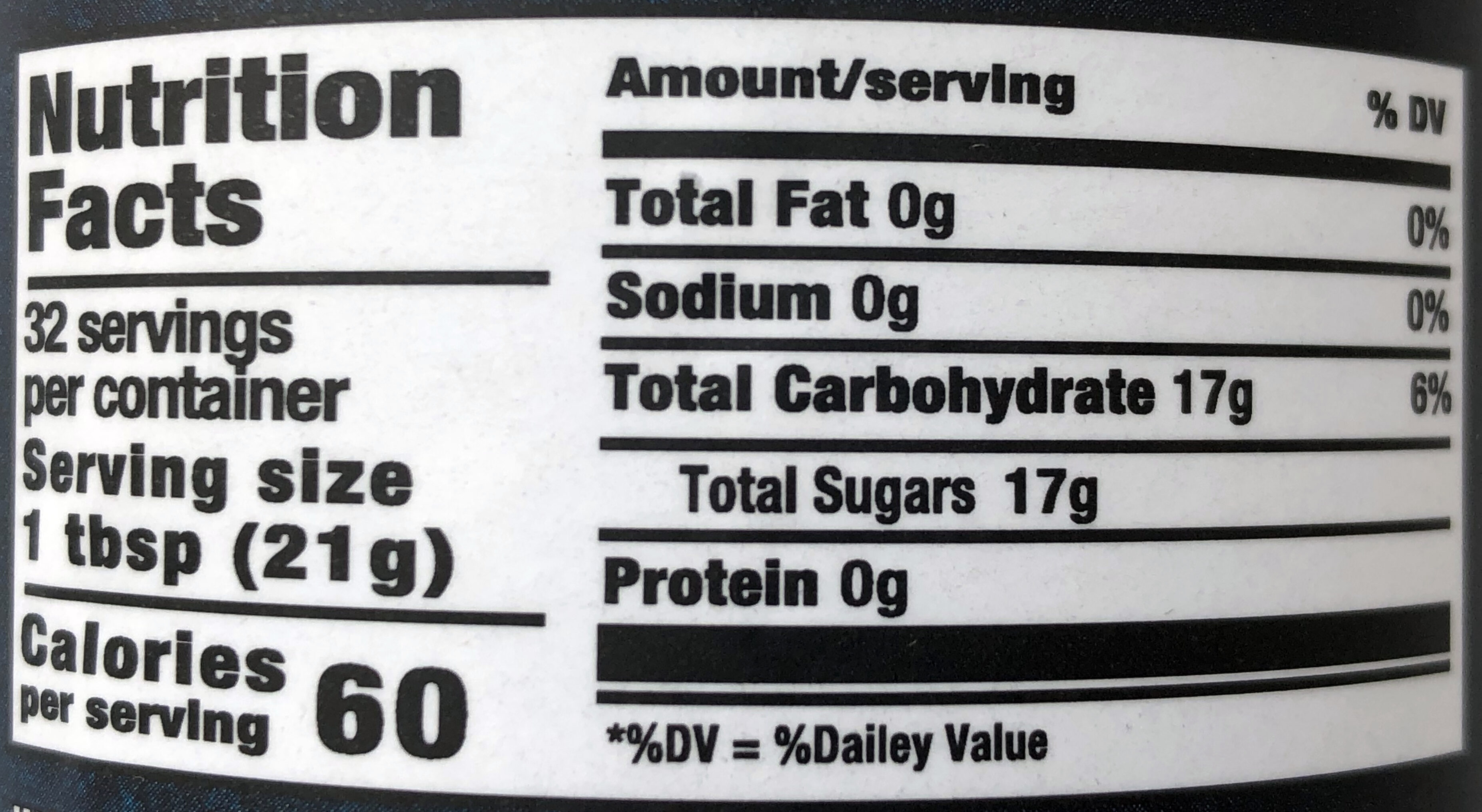 Honey - Nutrition facts