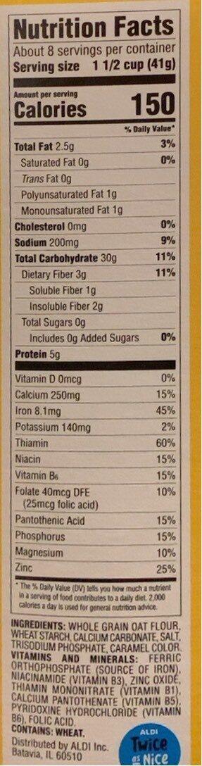 Crispy Oats - Informations nutritionnelles - en