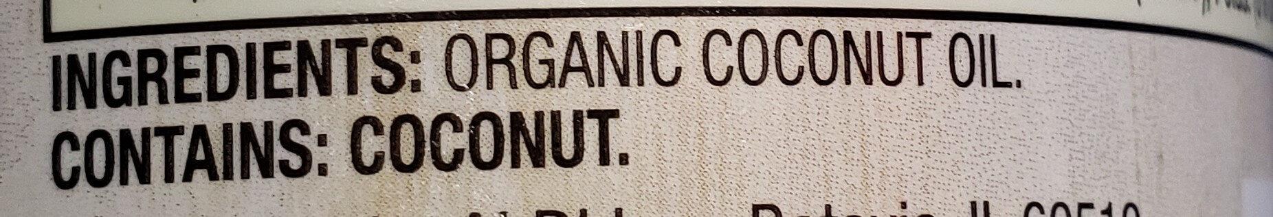 Coconut oil - Thành phần - en