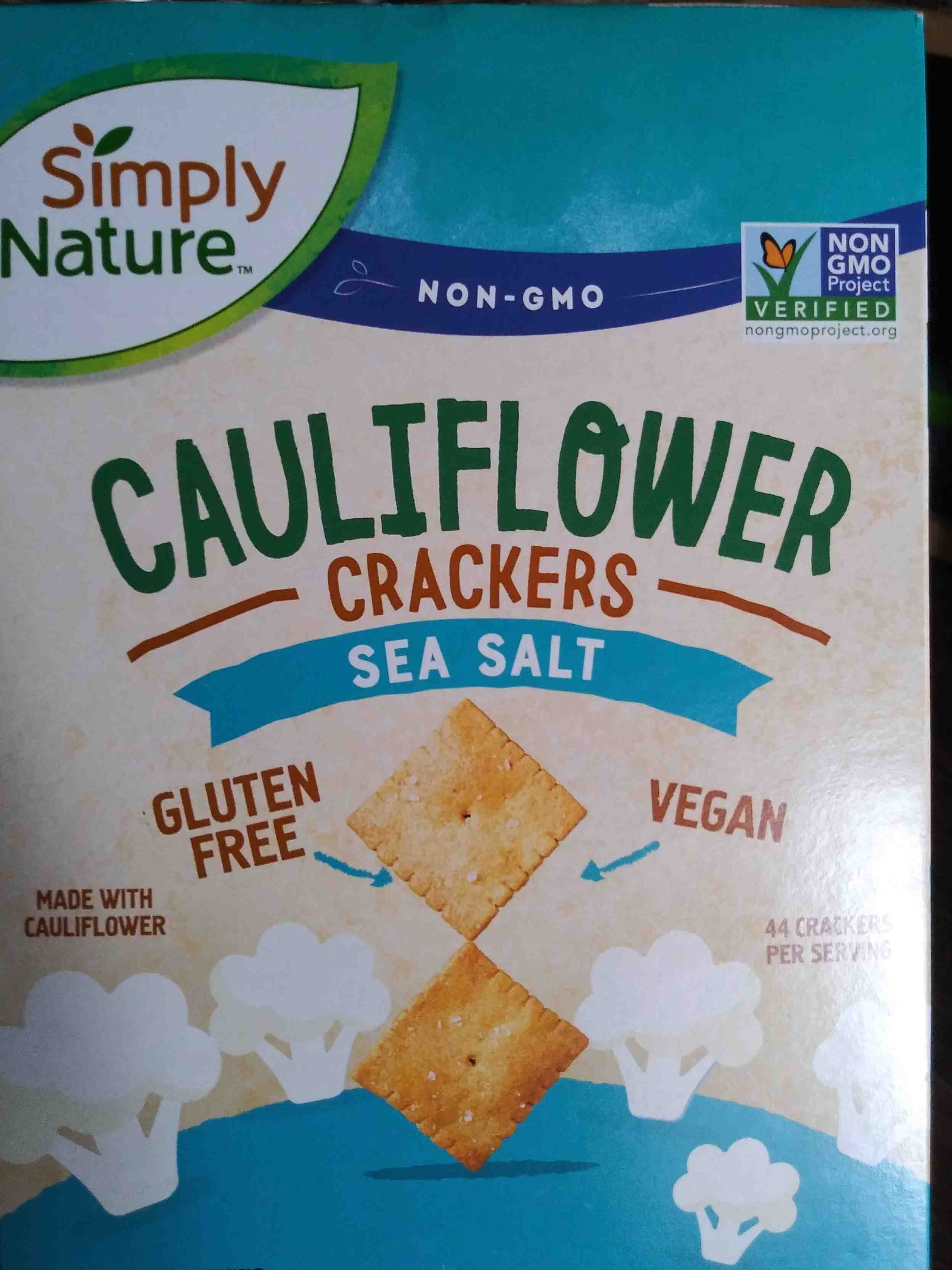 Simply Nature Cauliflower crackers (sea salt) - Product - en