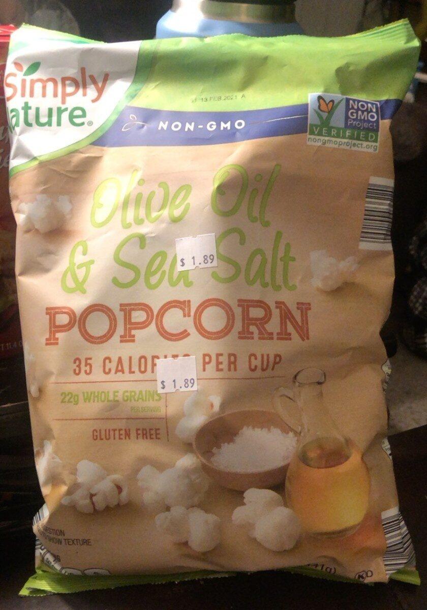 Olive oil and sea salt popcorn - Product - en