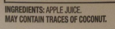 Apple Cider - Ingredients