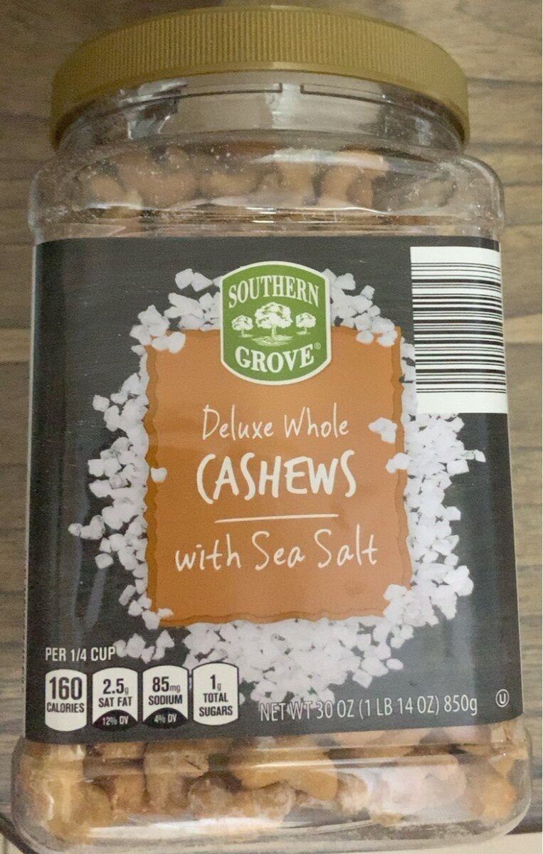 Southern Grove deluxe whole cashews with sea salt - Product - en